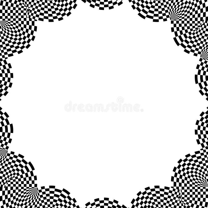 Download Checkered круговой элемент Абстрактный Monochrome график с Squ Иллюстрация вектора - иллюстрации насчитывающей разносторонне, рамка: 81814877