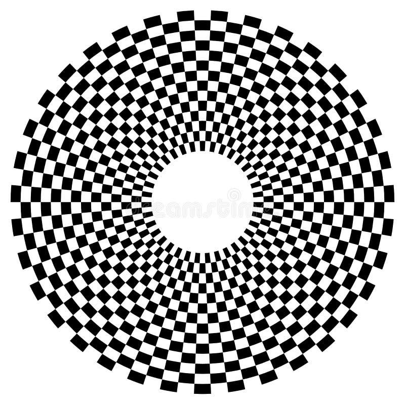 Download Checkered круговой элемент Абстрактный Monochrome график с Squ Иллюстрация вектора - иллюстрации насчитывающей черный, парня: 81814895