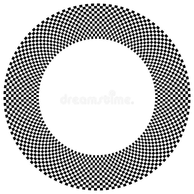 Download Checkered круговой элемент Абстрактный Monochrome график с Squ Иллюстрация вектора - иллюстрации насчитывающей pepita, картина: 81814914