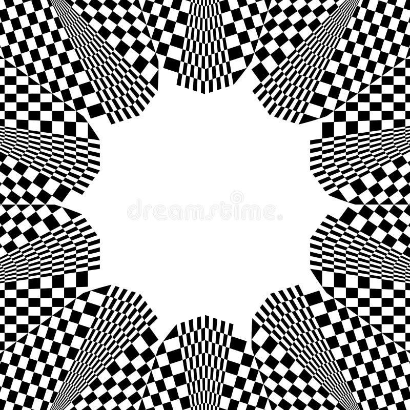 Download Checkered круговой элемент Абстрактный Monochrome график с Squ Иллюстрация вектора - иллюстрации насчитывающей мрамор, концентрическо: 81814951