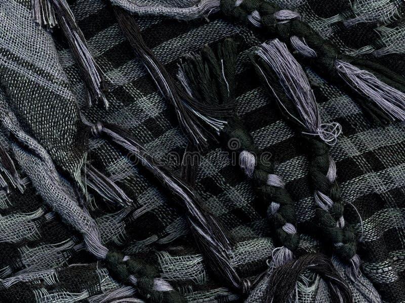Checkered носовой платок Макрос стоковая фотография