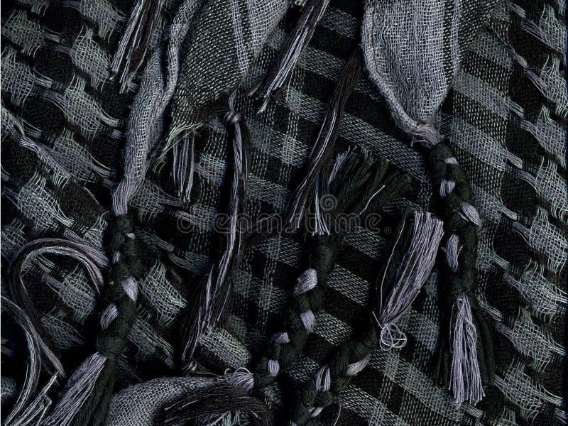 Checkered носовой платок Макрос стоковая фотография rf