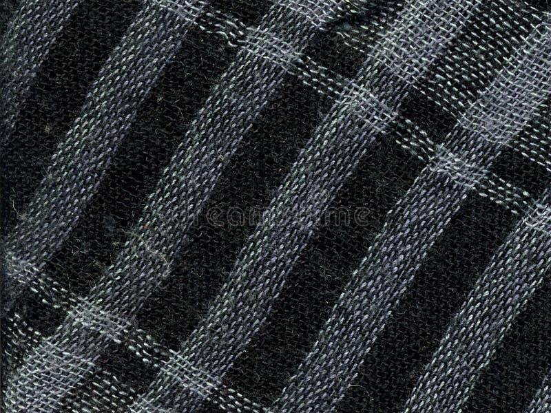 Checkered носовой платок Макрос стоковое изображение