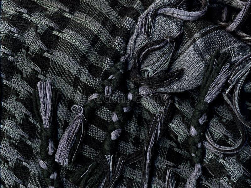 Checkered носовой платок Макрос стоковые изображения