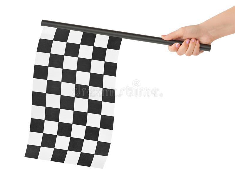 checkered окончательный флаг стоковое фото