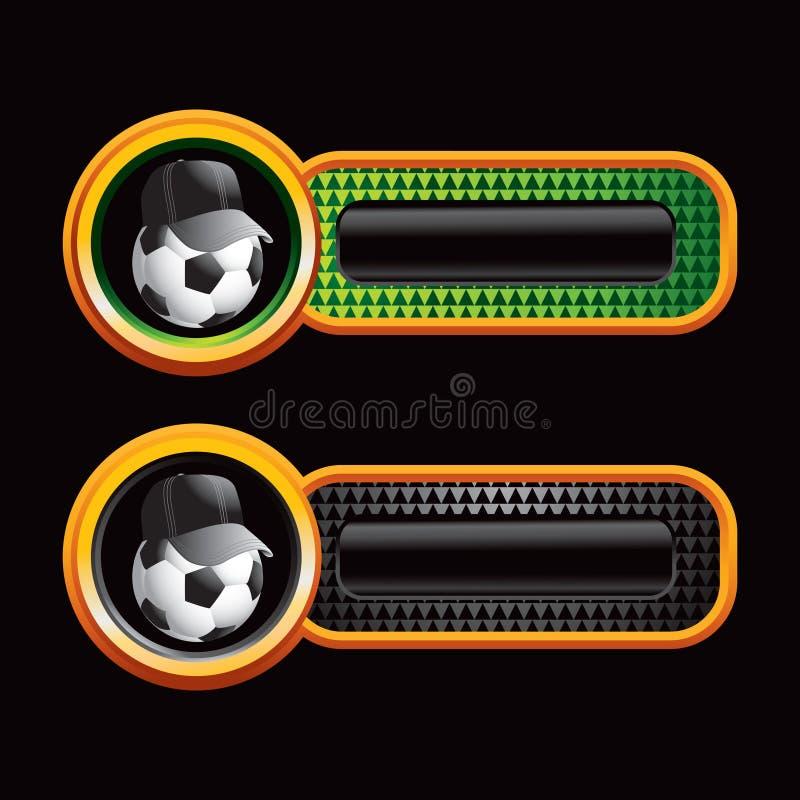 checkered платы футбола кареты иллюстрация вектора