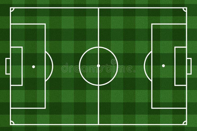 Checkered предпосылка футбольного поля иллюстрация штока