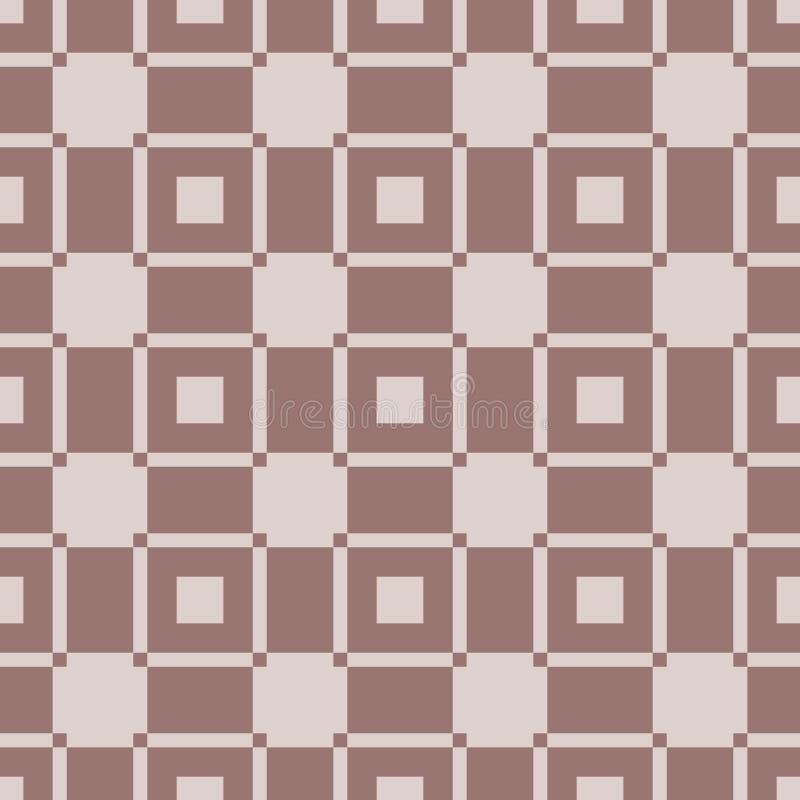 Checkered предпосылка ткани Брайн и бежевая безшовная картина бесплатная иллюстрация