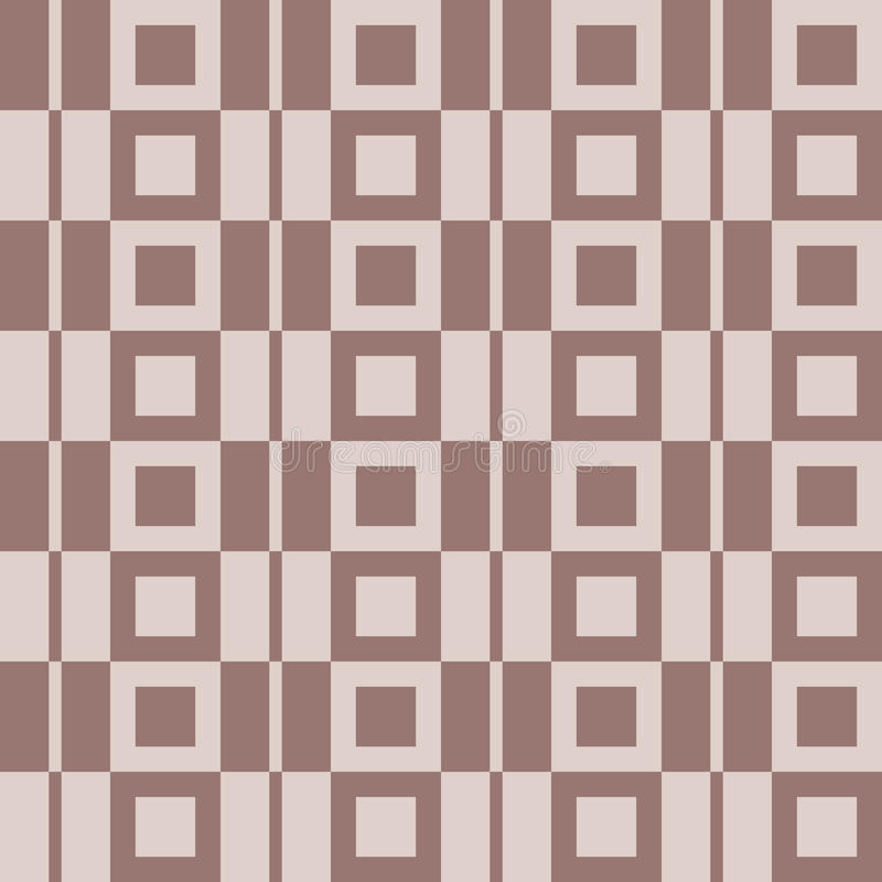 Checkered предпосылка ткани Брайн и бежевая безшовная картина иллюстрация вектора