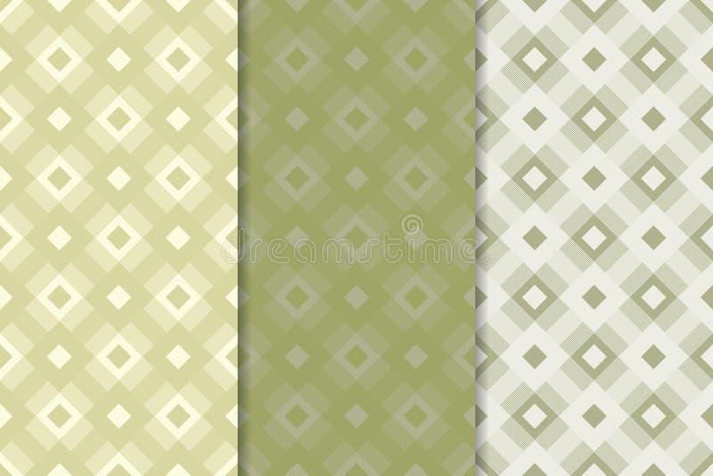 Checkered предпосылка ткани шотландки Картина прованского зеленого цвета безшовная иллюстрация вектора