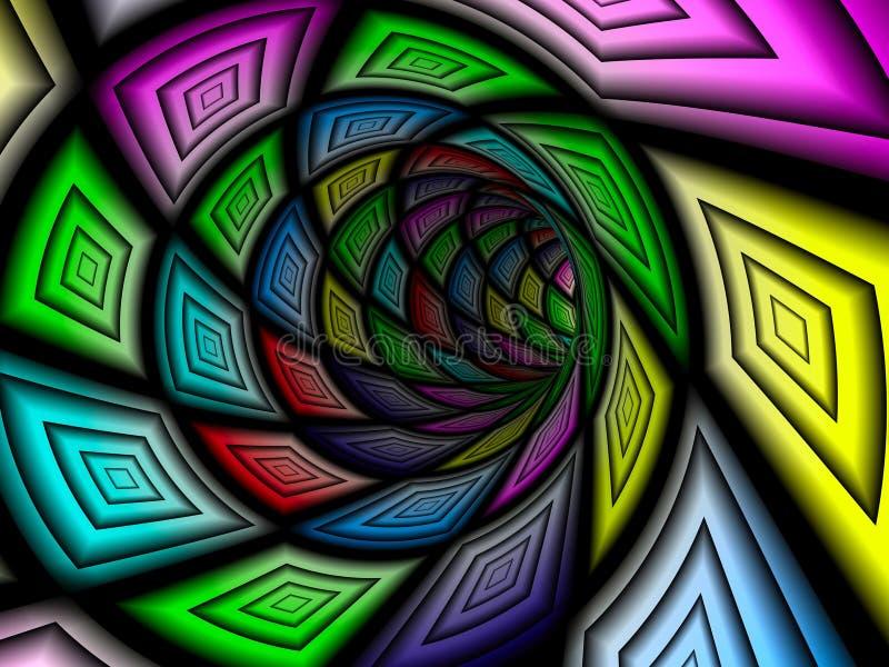 Checkered тоннель, 3D иллюстрация вектора