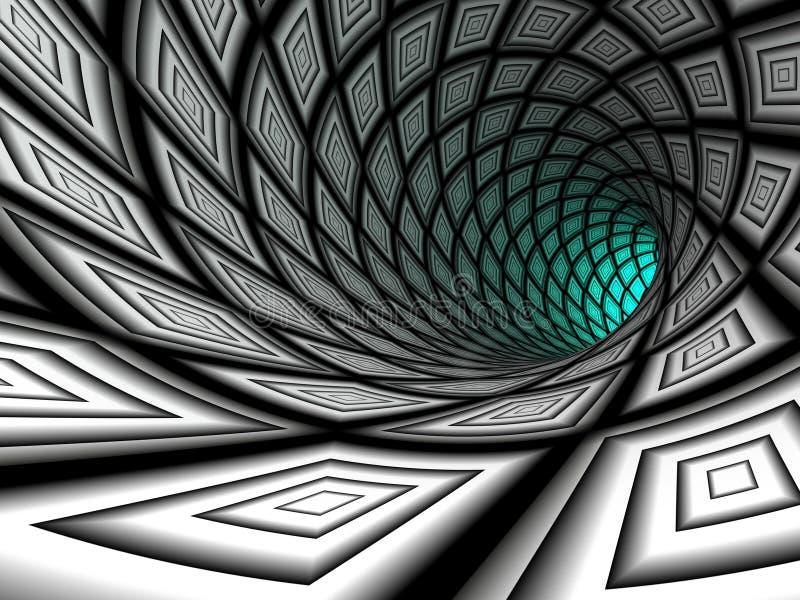 Checkered тоннель, 3D иллюстрация штока