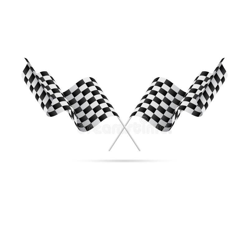 checkered флаги участвовать в гонке флагов также вектор иллюстрации притяжки corel иллюстрация вектора
