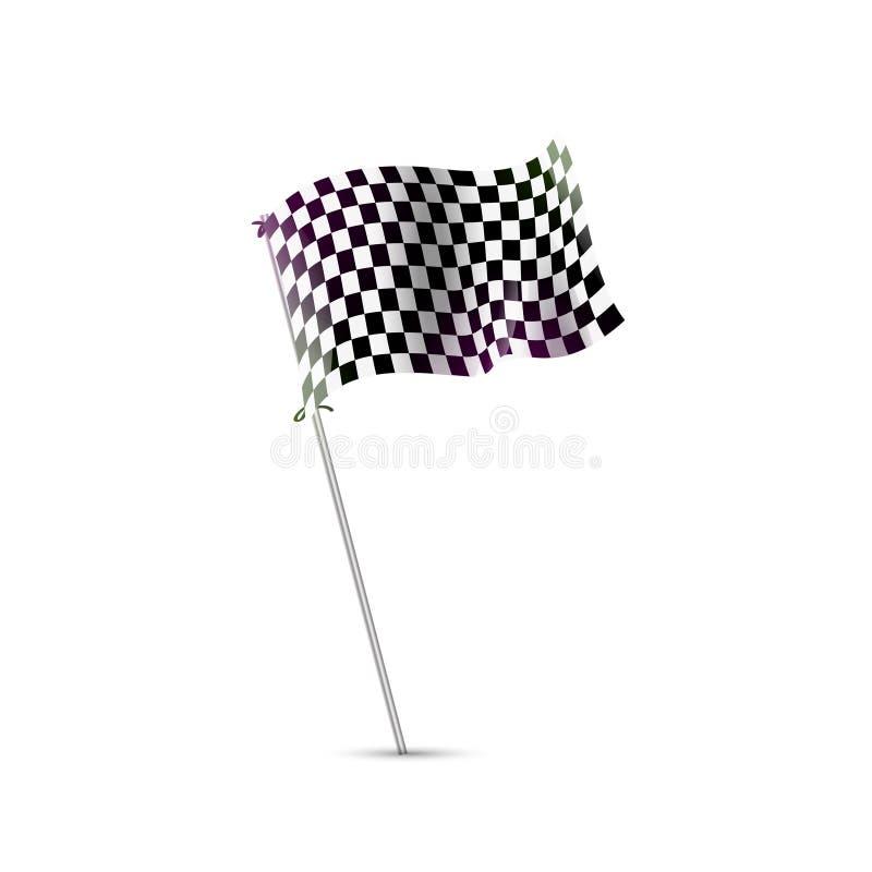 Checkered флаг, флаг гонки, отделка, Формула-1 старта иллюстрация вектора