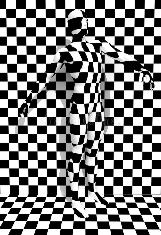 Checkered человек иллюстрация вектора