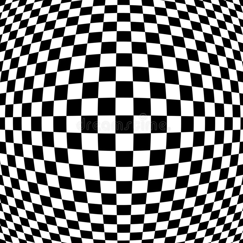 Checkered Abstract Wallpaper, Black And White Fabric