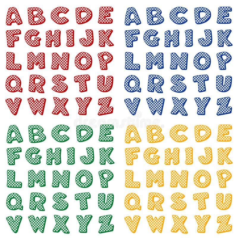 Checkered Alphabet, Primary Colors
