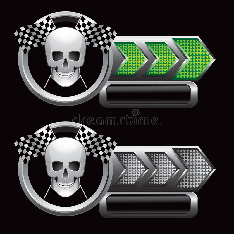 Download Checkered Arrows With Racing Flags And Skull Stock Vector - Image: 12417582