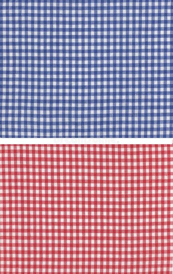 Checkered azul vermelho fotografia de stock