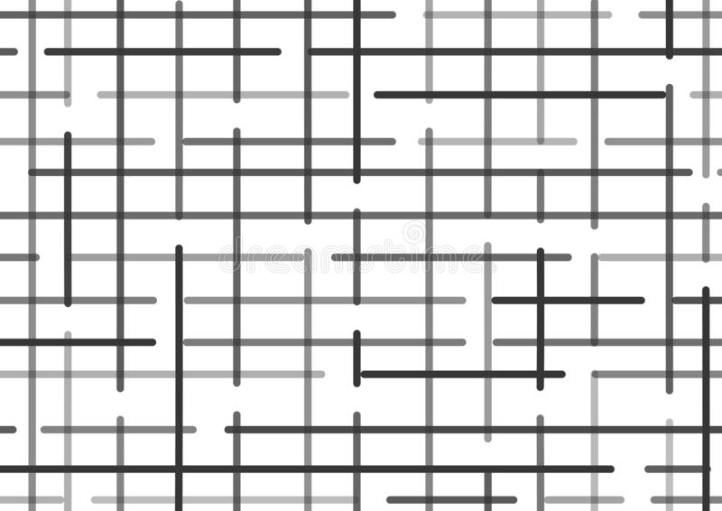 Checkered background with black lines. Vector royalty free illustration