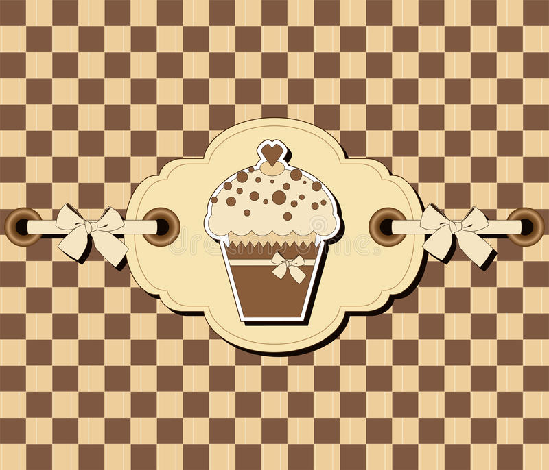 Download Checkered Background With Muffin Stock Vector - Image: 21898555