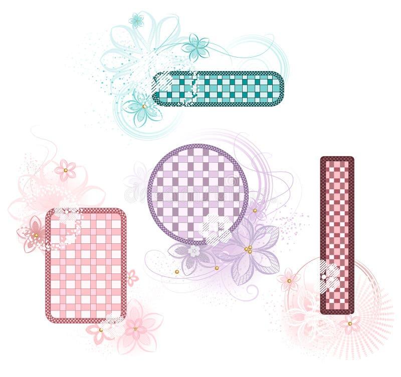 Checkered banner stock illustration