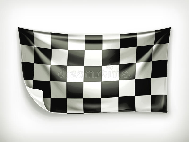 Checkered banner vector illustration