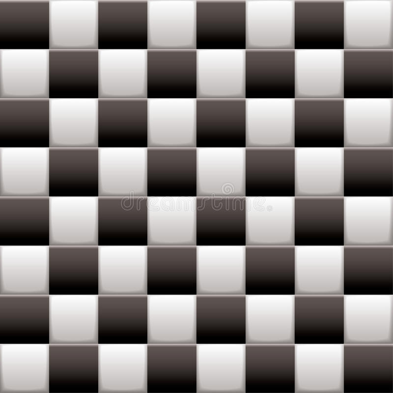 Checkered Black N White Royalty Free Stock Photography