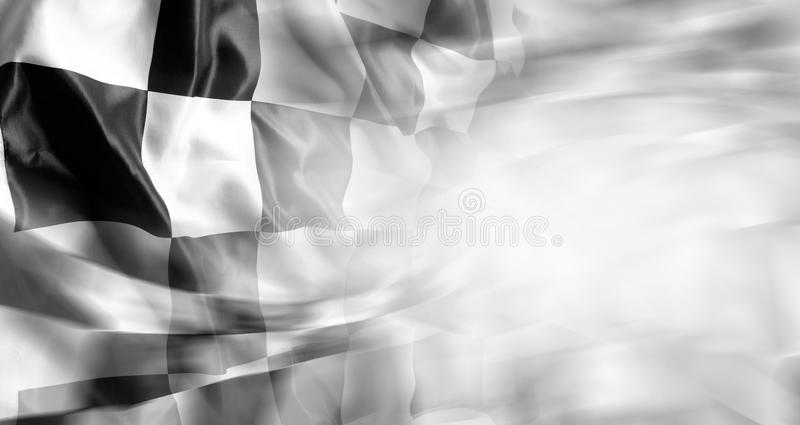 Checkered flag. Checkered black and white racing flag royalty free stock images