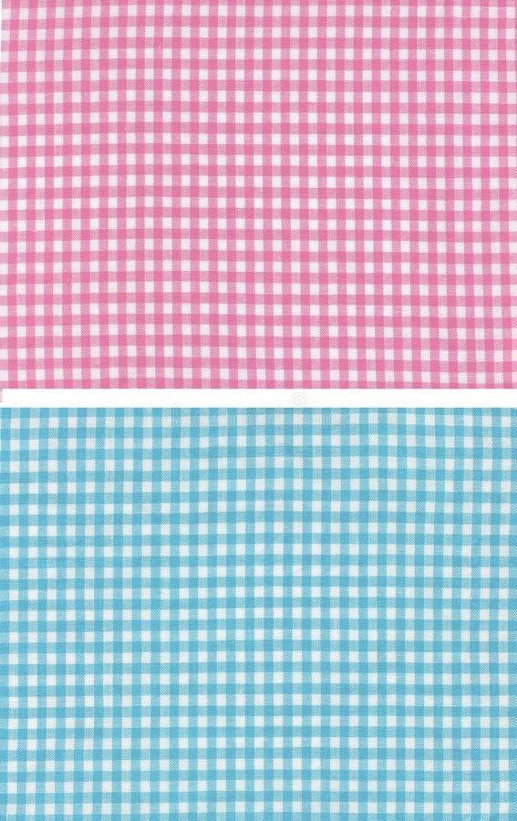 Checkered bleu rouge photographie stock libre de droits