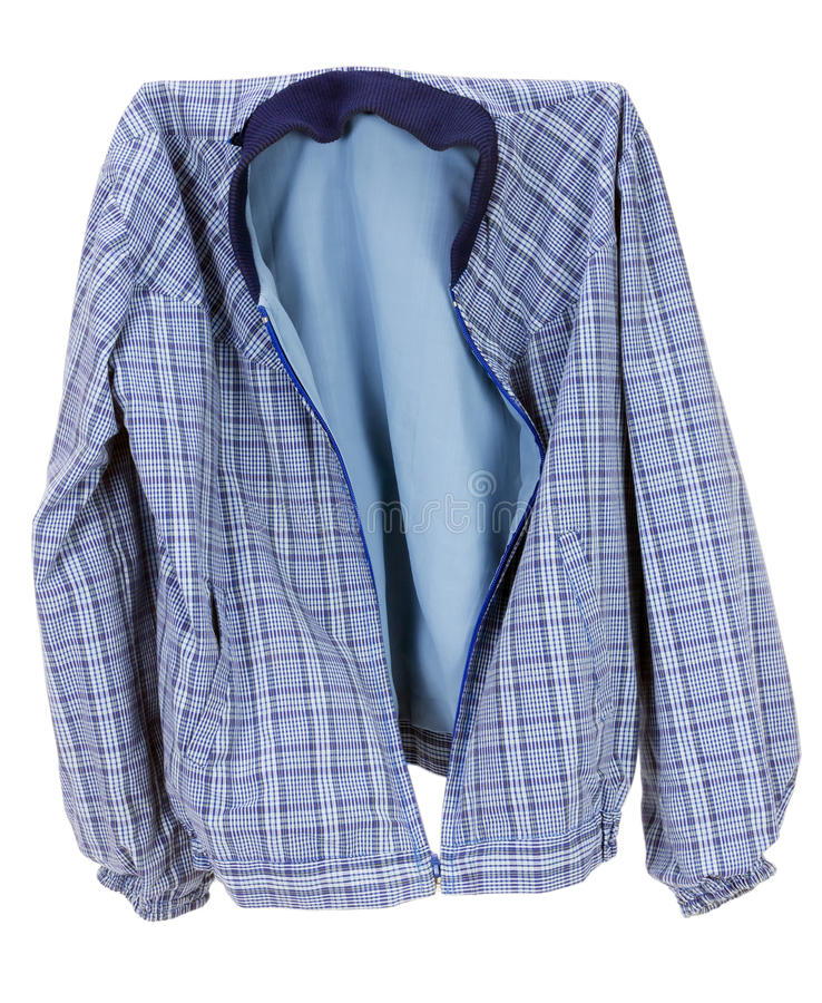 Download Checkered Blue Cotton  Jacket Stock Image - Image: 27949039