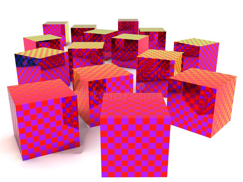 Download Checkered boxes stock illustration. Illustration of background - 11386351
