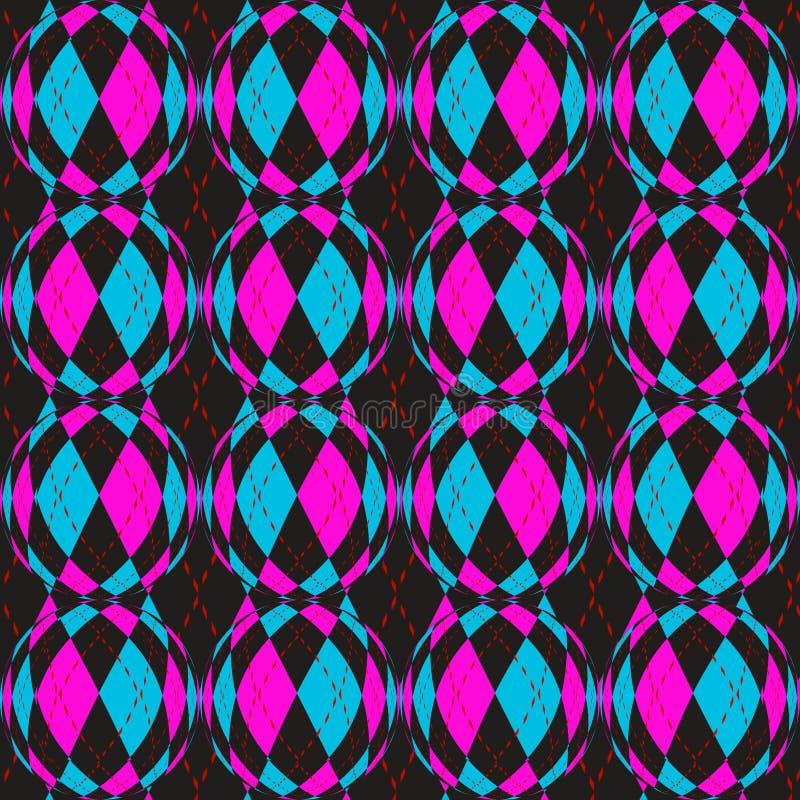 Checkered circels Muster vektor abbildung