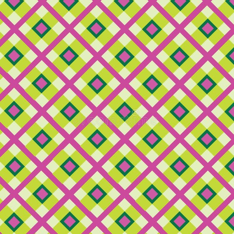 Checkered Cotton Fabric Seamless Pattern Royalty Free Stock Photos