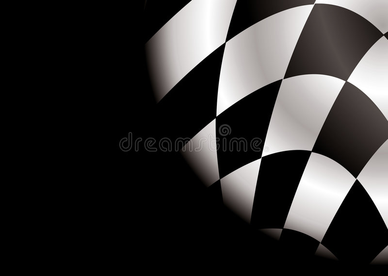 Checkered Eckleerzeichen vektor abbildung