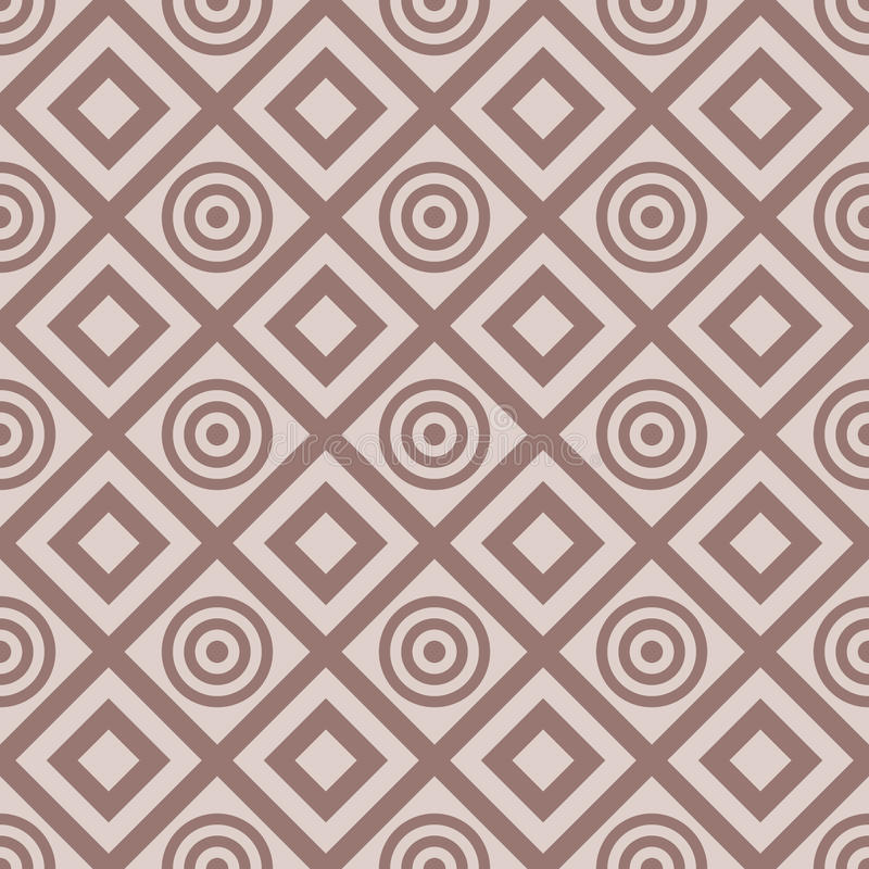 Checkered fabric background. Brown and beige seamless pattern stock illustration