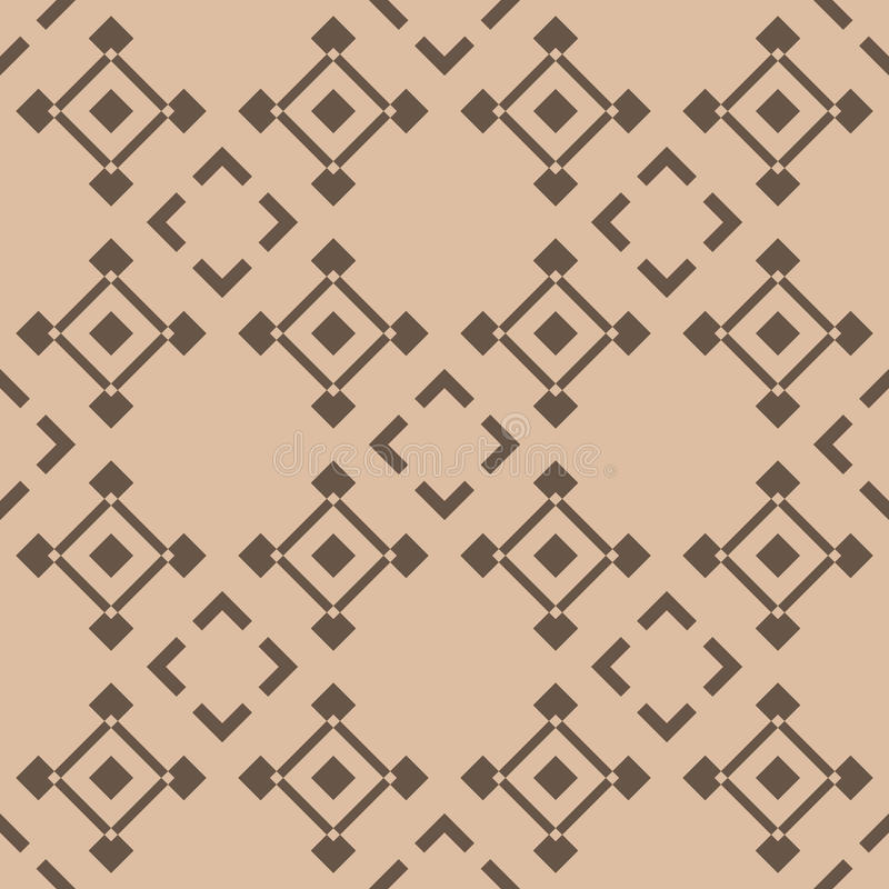 Checkered fabric background. Brown and beige seamless pattern vector illustration