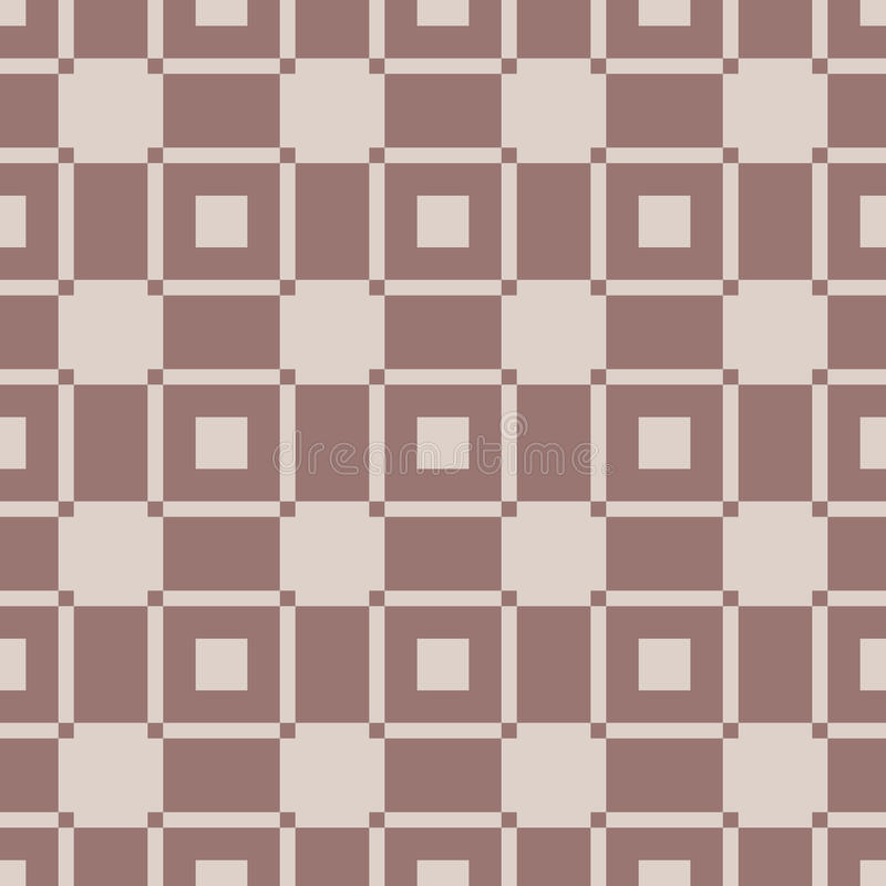 Checkered fabric background. Brown and beige seamless pattern royalty free illustration