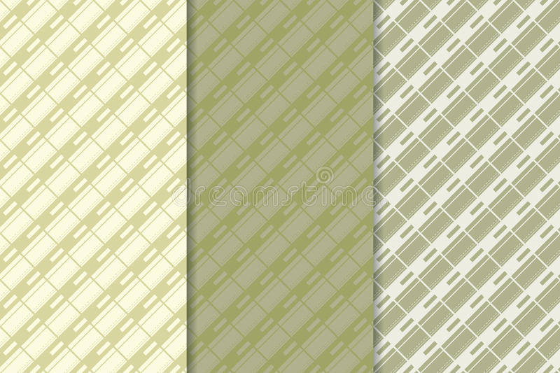 Checkered fabric background. Green olive seamless pattern stock illustration
