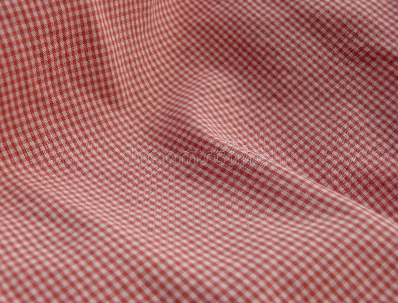 Download Checkered Fabric Close Up. Red. Stock Photo - Image: 5524452