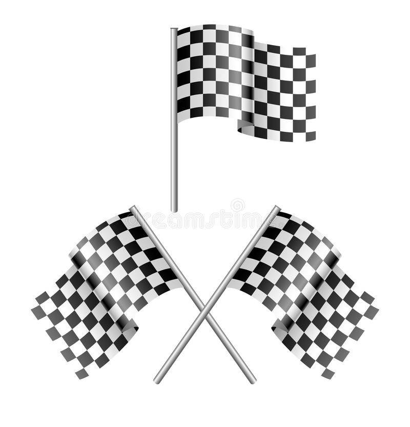 Download Checkered flag stock vector. Image of isolated, element - 12838151