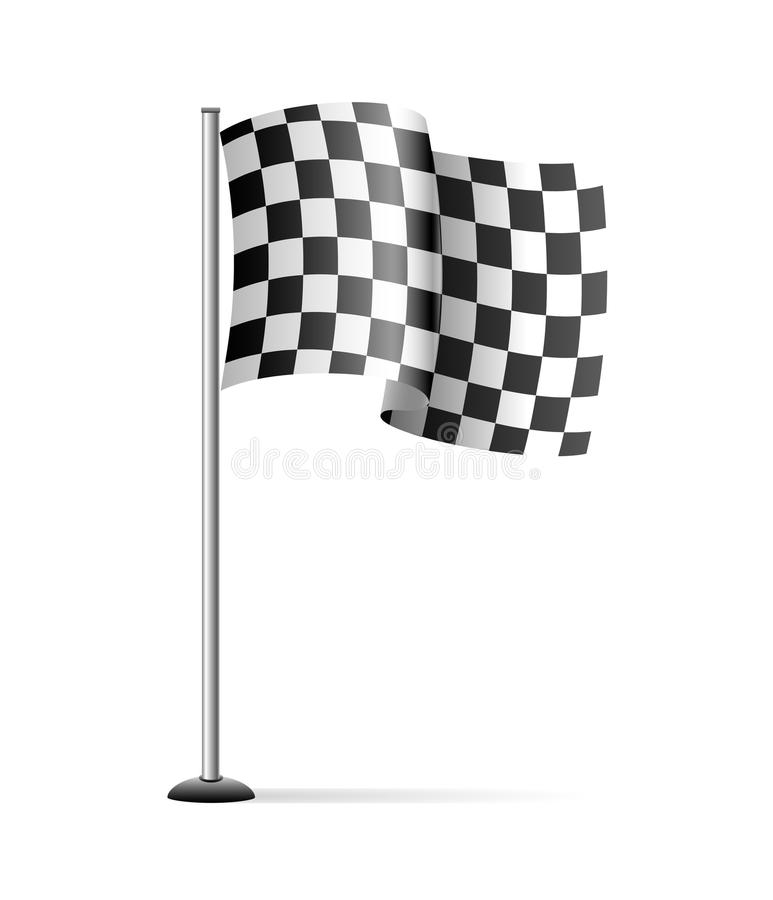 Download Checkered flag stock vector. Image of isolated, bike - 13579590