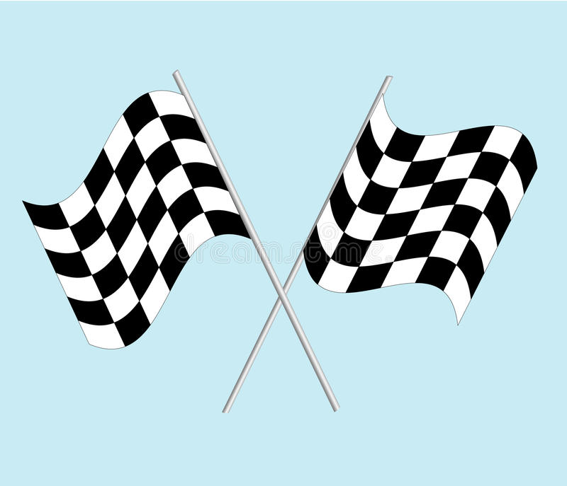 Download Checkered flag stock vector. Image of competition, runway - 15977046