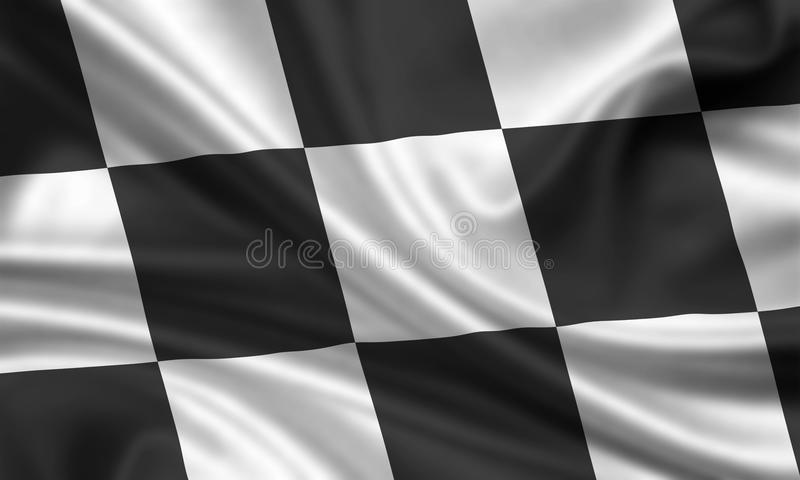 Checkered flag royalty free illustration