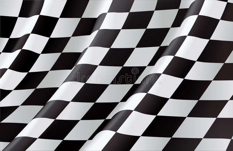 Download Checkered Flag stock vector. Illustration of finish, flag - 20043103