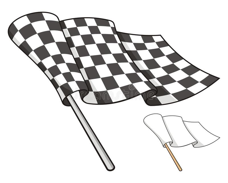 Download Checkered flag stock vector. Illustration of checkered - 21091704