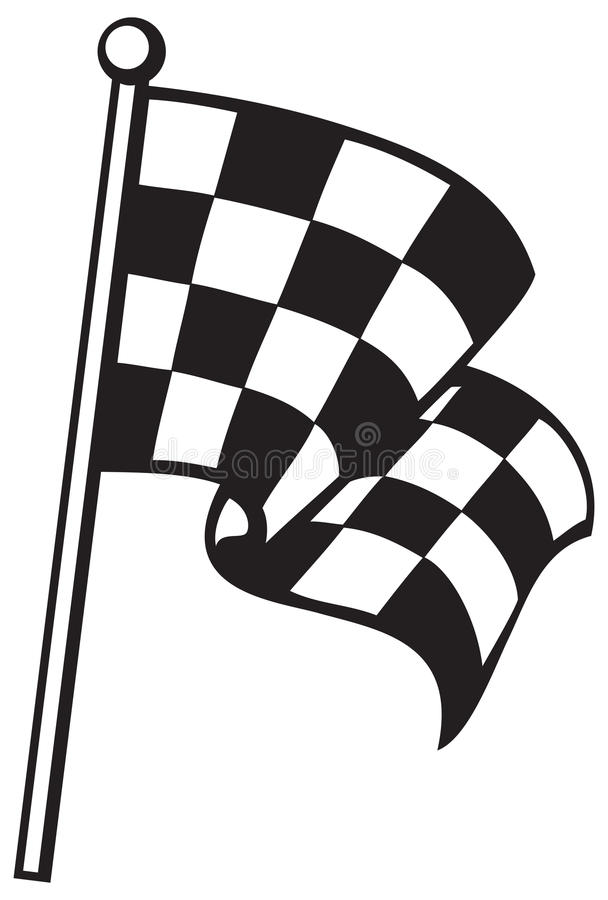 Download Checkered flag stock vector. Image of pattern, fabric - 25635737