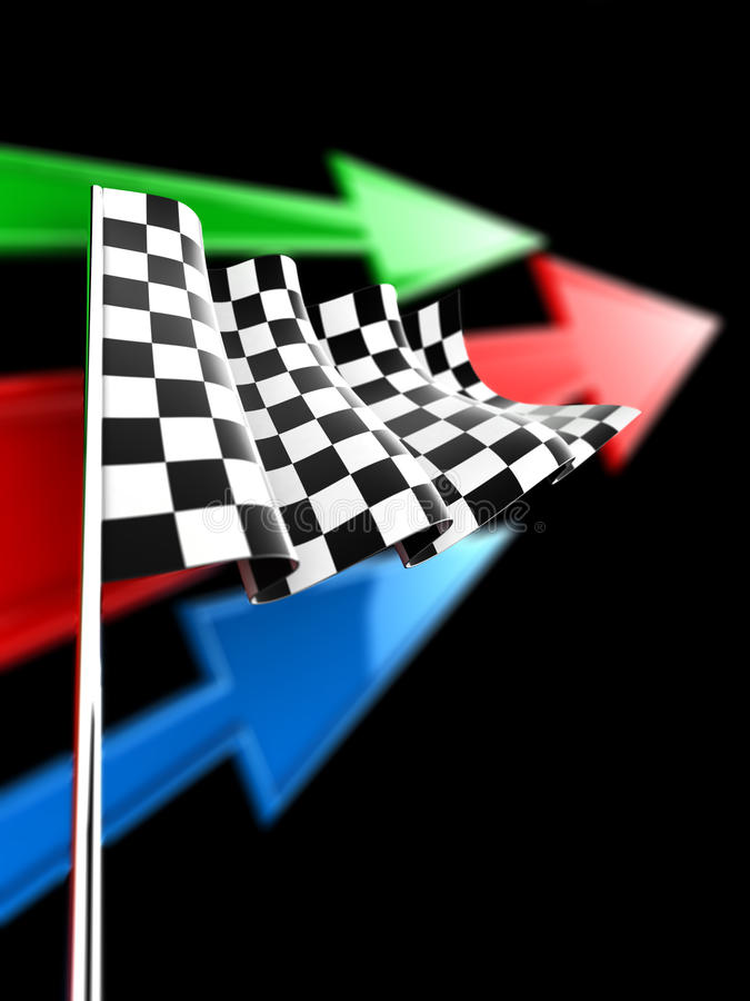Download Checkered Flag stock illustration. Image of striped, competition - 26926649
