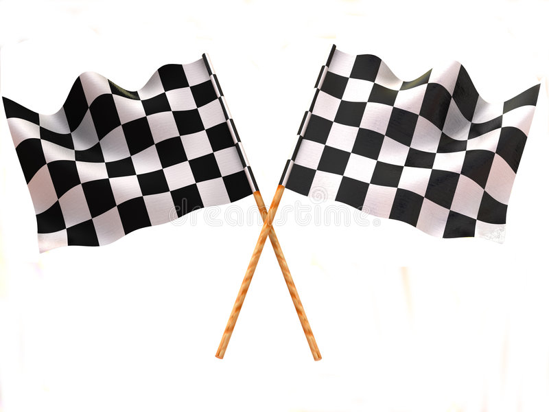 Checkered flag vector illustration