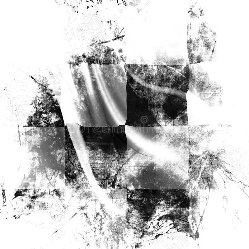 Checkered flag royalty free illustration